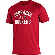 adidas Men's Nebraska Cornhuskers Scarlet Creator Performance T-Shirt