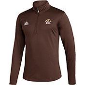 adidas Men's Western Michigan Broncos Brown Under the Lights Quarter-Zip Shirt