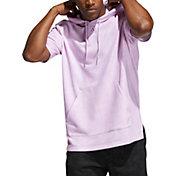 adidas Men's 3 Bar Wash Short Sleeve Hoodie