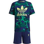 adidas Kids' Allover Print Pack Camo Print Shorts and Tee Set