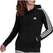 adidas Women's Essentials Fleece 3-Stripes Full Zip Jacket