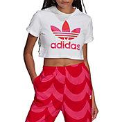 adidas Originals Women's Marimekko Cropped T-Shirt with Trefoil Print