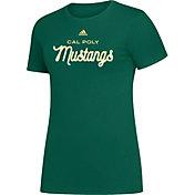 adidas Women's Cal Poly Mustangs Green Amplifier T-Shirt