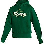 adidas Women's Cal Poly Mustangs Green Fashion Pullover Hoodie