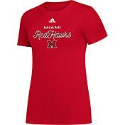 adidas Women's Miami RedHawks Red Amplifier T-Shirt