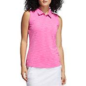 adidas Women's Spacedye Short Sleeve Polo Shirt