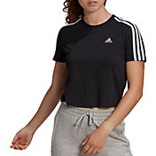 adidas Women's Essentials Loose 3-Stripes Cropped T-Shirt