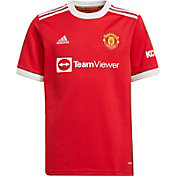 adidas Youth Manchester United '21 Home Replica Jersey