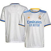 adidas Youth Real Madrid '21 Home Replica Jersey
