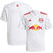 adidas Youth New York Red Bulls '21-'22 Primary Replica Jersey