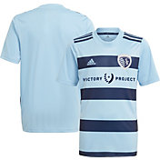 adidas Youth Sporting Kansas City '21-'22 Primary Replica Jersey