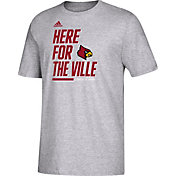 adidas Youth Louisville Cardinals 'Here For' Bench T-Shirt