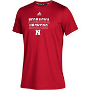 adidas Youth Nebraska Cornhuskers Scarlet Climatech Performance T-Shirt