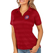 Antigua Women's Chicago Cubs Compass Red Polo