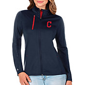 Antigua Women's Cleveland Indians Generation Full-Zip Navy Jacket