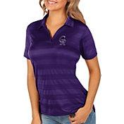 Antigua Women's Colorado Rockies Compass Purple Polo