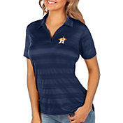 Antigua Women's Houston Astros Compass Navy Polo