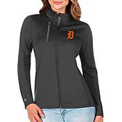 Antigua Women's Detroit Tigers Generation Full-Zip Gray Jacket