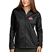 Antigua Women's Ohio State Buckeyes Black Full-Zip Golf Jacket