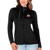 Antigua Women's Ohio State Buckeyes Black Generation Full-Zip Jacket