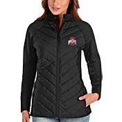 Antigua Women's Ohio State Buckeyes Black Altitude Full-Zip Jacket