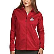 Antigua Women's Ohio State Buckeyes Scarlet Full-Zip Golf Jacket