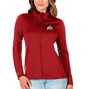 Antigua Women's Ohio State Buckeyes Scarlet Generation Full-Zip Jacket
