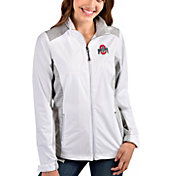 Antigua Women's Ohio State Buckeyes White Revolve Full-Zip Jacket