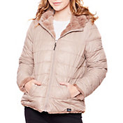 Be Boundless Women's Quilted Nylon Full-Zip 2-in-1 Hooded Jacket
