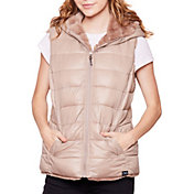 Be Boundless Women's Soft Touch Quilted Full-Zip 2-in-1 Hooded Faux Fur Vest
