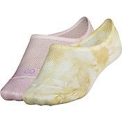 CALIA by Carrie Underwood Women's Tie Dye Footie Socks - 2 Pack