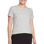 CALIA by Carrie Underwood Women's Textured Short Sleeve Crewneck Pullover