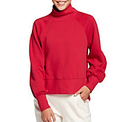 CALIA by Carrie Underwood Women's French Terry Mock Neck Pullover