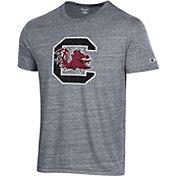 Champion Men's South Carolina Gamecocks Grey Tri-Blend Ultimate T-Shirt