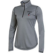 Champion Women's Cincinnati Bearcats Grey Quarter-Zip Pullover Shirt