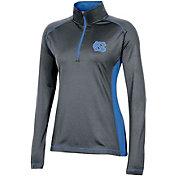 Champion Women's North Carolina Tar Heels Grey Quarter-Zip Pullover Shirt