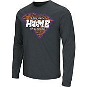 Colosseum Men's Clemson Tigers Black 'Come Back Home' Dual Blend Long-Sleeve T-Shirt