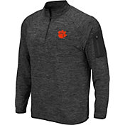 Colosseum Men's Clemson Tigers Grey Quarter-Zip Shirt