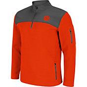Colosseum Men's Clemson Tigers Orange Lemon Law Quarter-Zip Pullover Jacket
