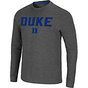 Colosseum Men's Duke Blue Devils Grey Dragon Long Sleeve Thermal T-Shirt