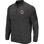 Colosseum Men's Ohio State Buckeyes Gray Quarter-Zip Shirt