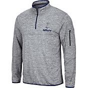 Colosseum Men's Navy Midshipmen Grey Quarter-Zip Pullover Shirt