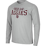 Colosseum Men's Texas A&M Aggies Grey Wordmark Long Sleeve T-Shirt