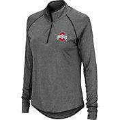 Colosseum Women's Ohio State Buckeyes Gray Quarter-Zip Shirt