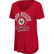 Colosseum Women's Ohio State Buckeyes Scarlet Scoop-Neck T-Shirt