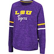 Colosseum Women's LSU Tigers Purple Beach Break Pullover Sweatshirt