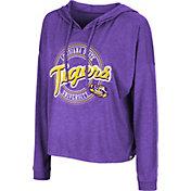 Colosseum Women's LSU Tigers Purple Cody Meet & Greet Hooded Long Sleeve T-Shirt