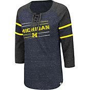 Colosseum Women's Michigan Wolverines Blue Pasadena ¾ Sleeve T-Shirt