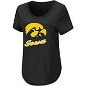 Colosseum Women's Iowa Hawkeyes Black T-Shirt