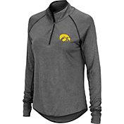 Colosseum Women's Iowa Hawkeyes Grey Stingray Quarter-Zip Pullover Shirt